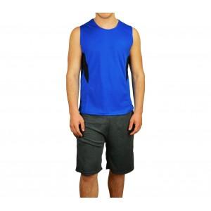 Image of Completo sportivo da uomo modello TECHNICOLOR canotta e pantaloncini 7106893229436