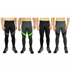 KZ-327 Pantaloni per lo sport da uomo con inserti colorati tessuto traspirante