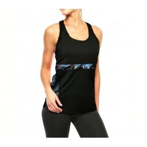 Image of Canotta da donna sportiva KZ-291 in tessuto traspirante con scollo olimpionico 7106893934132