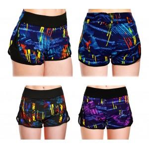 KZ-303 Shorts sportivo da donna con pantaloncino contenitivo interno