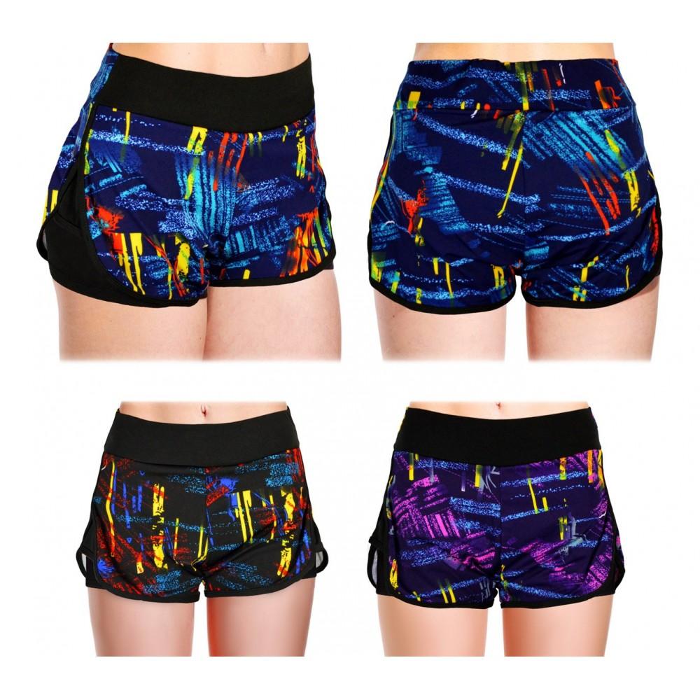 Shorts sportivo da donna KZ-303 con pantaloncino contenitivo interno