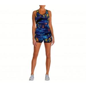 Image of Completo sportivo da donna KENYA con canotta e short in tessuto traspirante 7106895318510