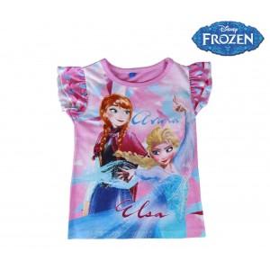 T-shirt per bambina FROZEN 2200001949 in cotone taglia da 3 a 7 anni