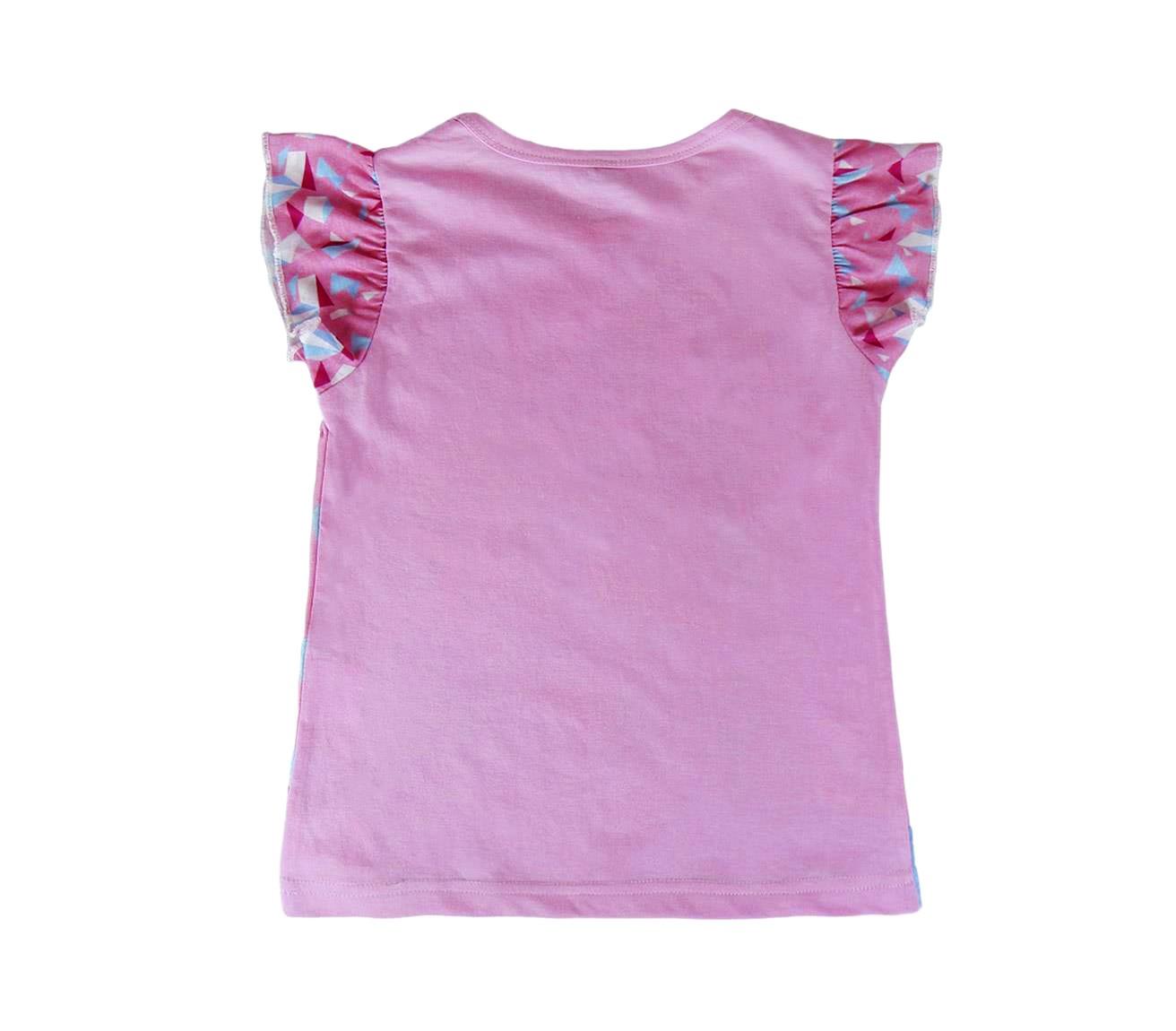 T-shirt-bambina-FROZEN-Elsa-e-Anna-2200001949-in-cotone-taglia-da-3-a-7-anni miniatura 5