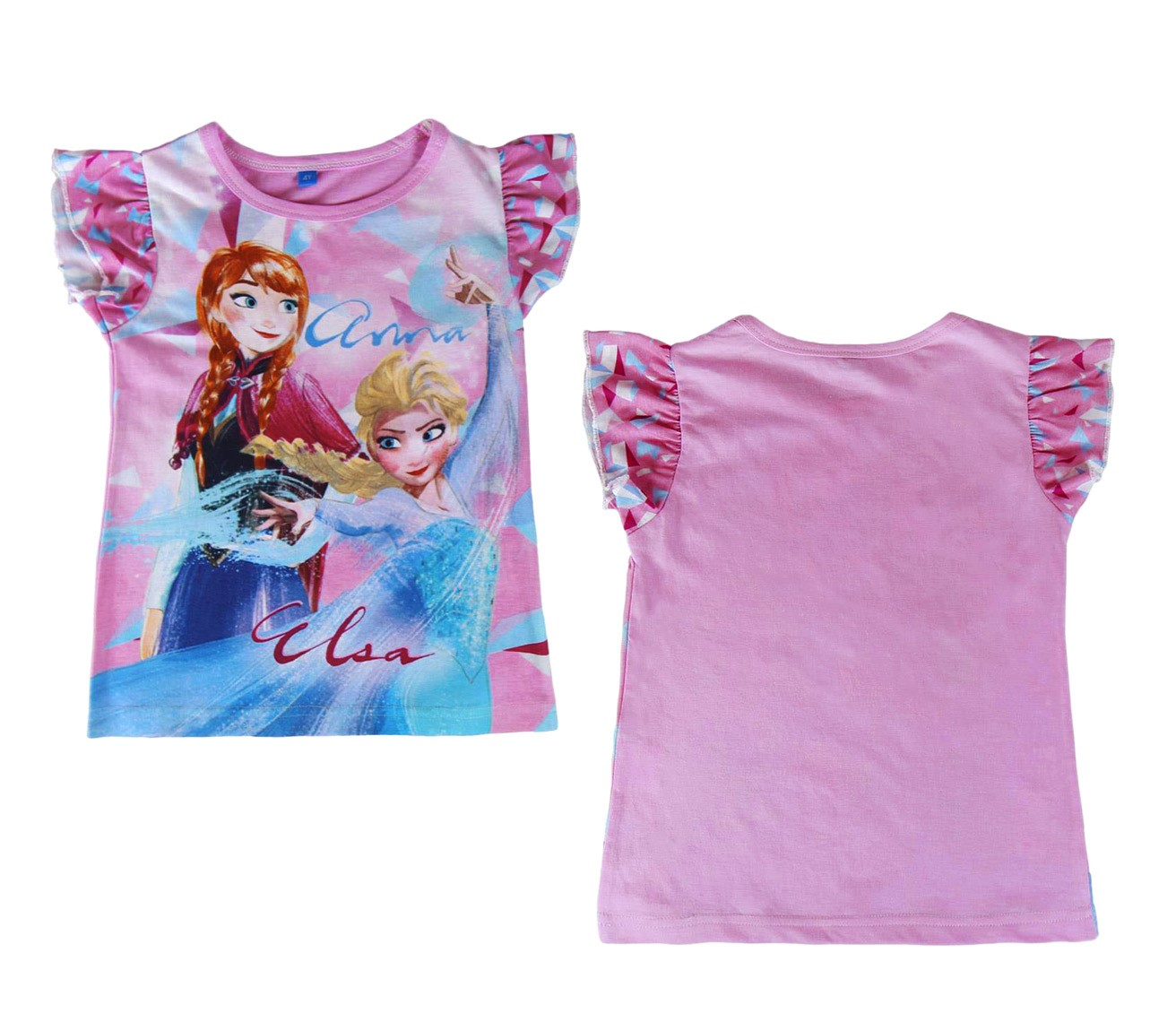 T-shirt-bambina-FROZEN-Elsa-e-Anna-2200001949-in-cotone-taglia-da-3-a-7-anni miniatura 6