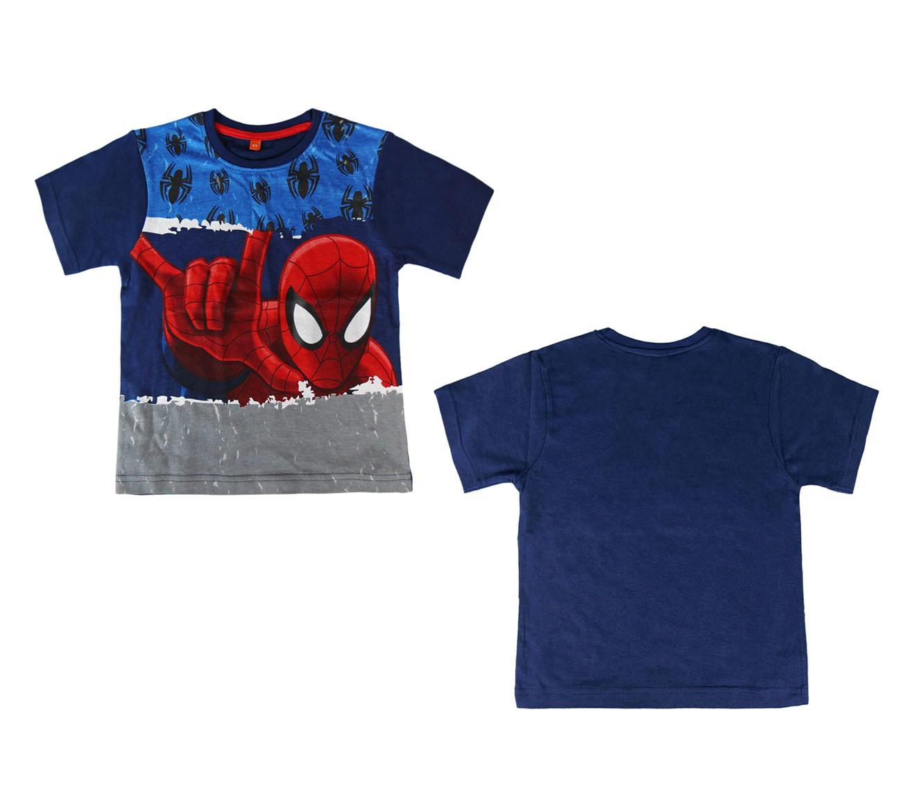 T-shirt-da-bambino-di-SPIDERMAN-2200001951-in-cotone-taglie-da-4-a-8-anni miniatura 6