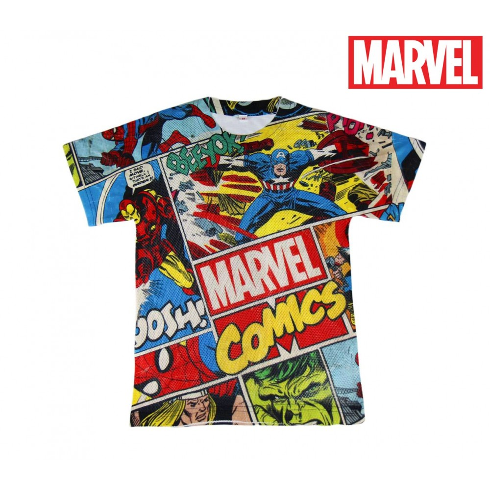 new product 6e9a8 2a203 T-shirt da bambino MARVEL COMICS 2200001985 trama traforata ...
