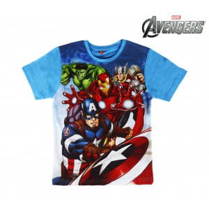 T-shirt da bambino AVENGERS in cotone 2200001960 taglia 6 - 8 - 10 anni