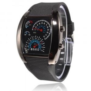Image of Orologio TURBO AVIATION tachimetro effetto cruscotto watch uomo 8045789658952