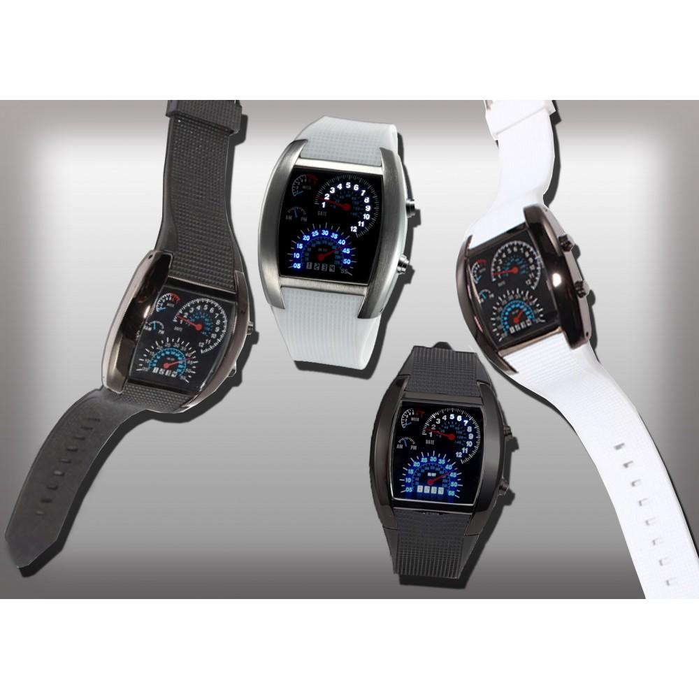 Orologio TURBO AVIATION tachimetro effetto cruscotto watch uomo