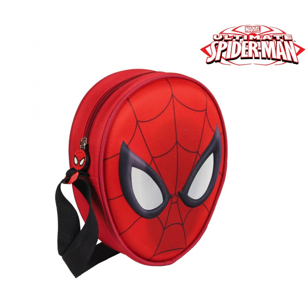 Borsello 3D di SPIDERMAN 2100001664 con tracolla regolabile 14x18x5,5cm