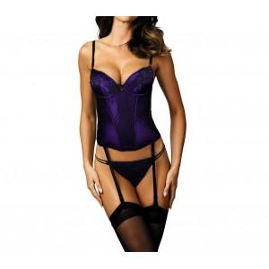 Completino lingerie sexy ZH0061 corsetto tanga mod.ROXY con reggicalze