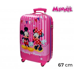 2691551 Trolley bagaglio rigido in ABS Minnie & MICKEY MOUSE 42x67x24cm
