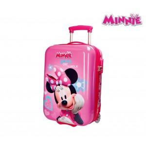 Image of 2890351 Trolley bagaglio a mano rigido in ABS di MINNIE MOUSE 31 x 50 x 20 cm 7106898162653