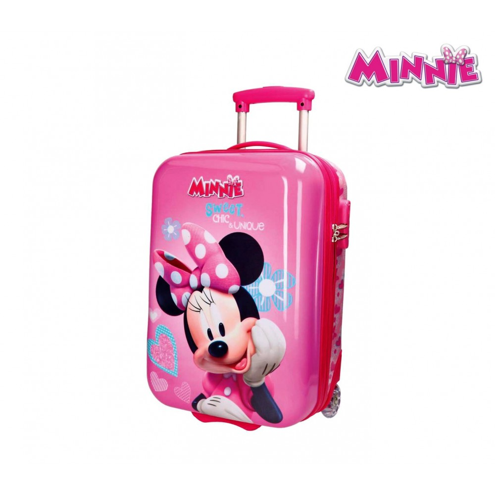 2340863370 2890351 Trolley bagaglio a mano rigido in ABS di MINNIE MOUSE 31 x 50 x 20