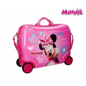 2899951 Trolley bagaglio a mano rigido cavalcabile Minnie Mouse 50x39x20cm