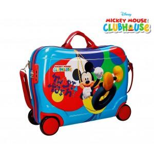 2889951 Trolley bagaglio a mano rigido cavalcabile Mickey Mouse 50x39x20cm