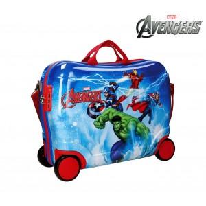 2119961 Trolley bagaglio a mano rigido cavalcabile The Avengers 50x39x20cm