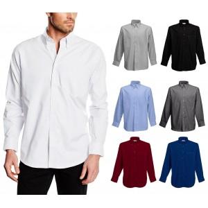 Camicia da uomo modello ALEX regular fit in cotone colletto classico vari colori