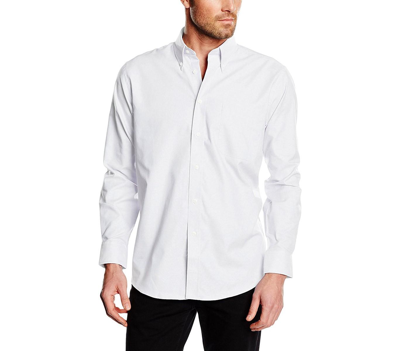 MEDIA WAVE store Camicia da Uomo Modello Alex Regular Fit in Cotone Colletto Classico Vari Colori 44//45, Bordeaux
