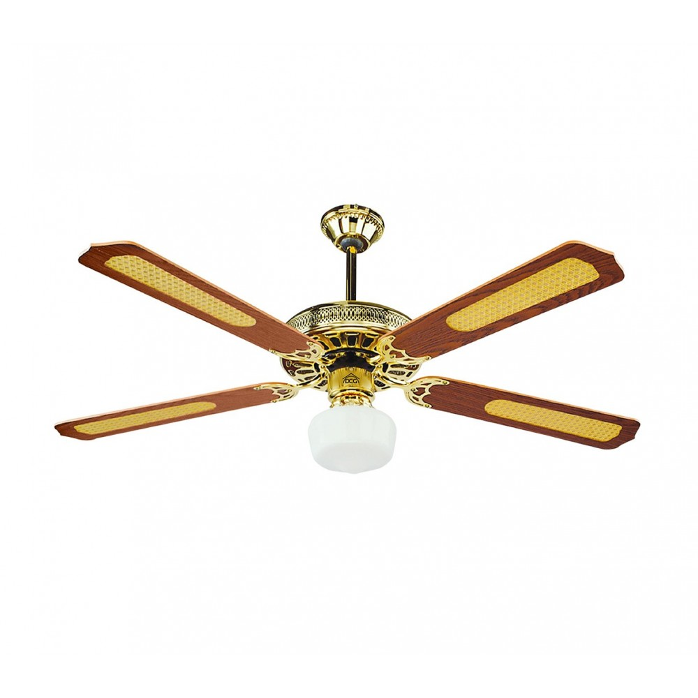 VECRD43-TL Ventilatore da soffitto DCG con luce e telecomando quattro pale 65W