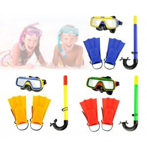 Kit maschera boccaglio e pinne per bambini CIKKECIAK 401079 in tre colori