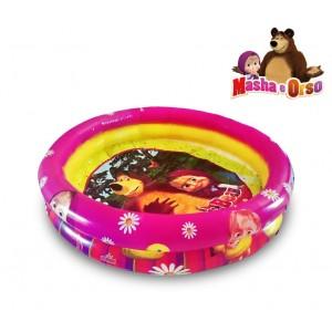 Piscina gonfiabile per bambini MASHA E ORSO due anelli diametro 90cm