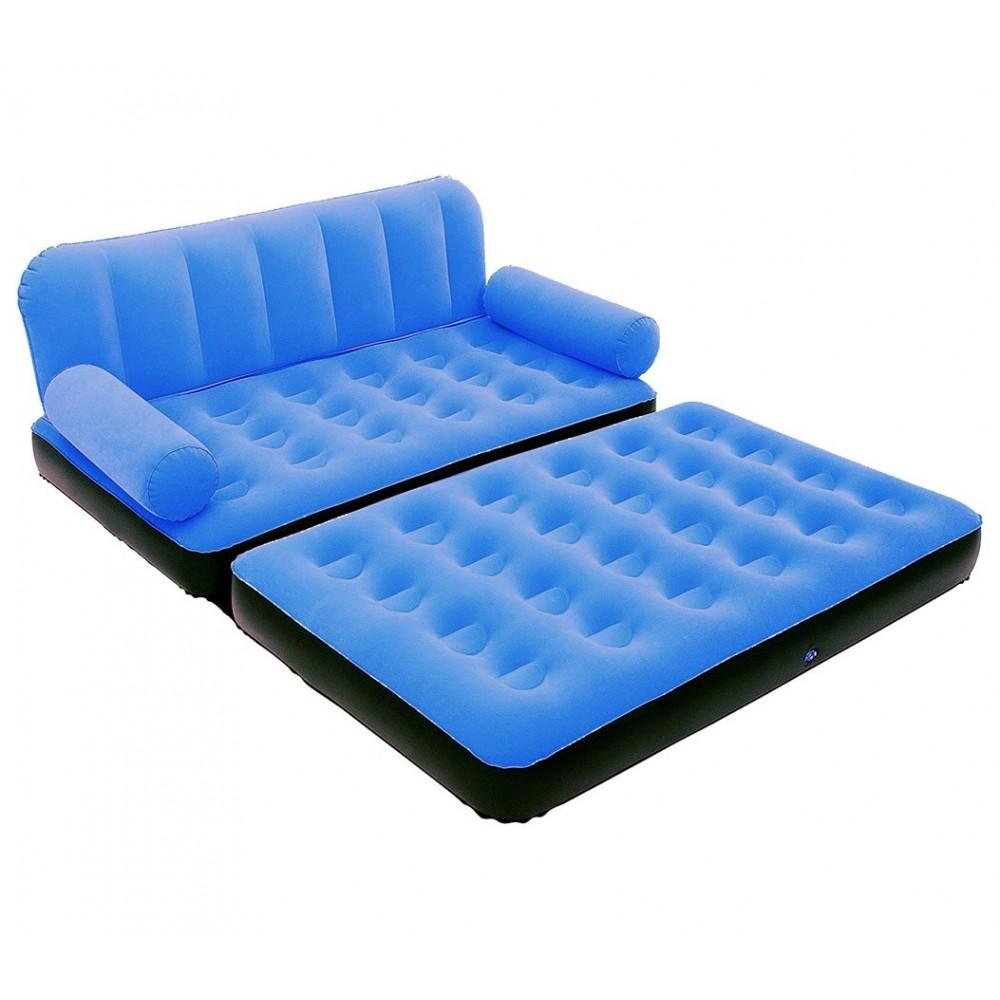 Divano Letto Gonfiabile Bestway.Azzurro Media Wave Store 67356n Divano Letto Relax Floccato