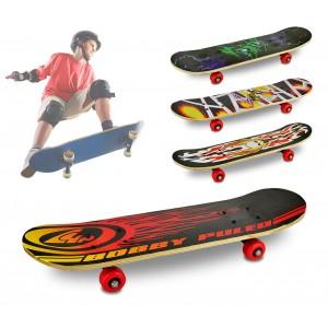 090862 Skatebord per bambini e ragazzi 4 ruote diversi modelli 59 x 15 x 8 cm