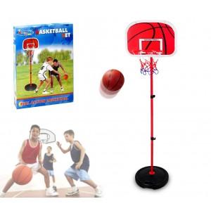 400067 Playset basket per bambini canestro regolabile in altezza e palla