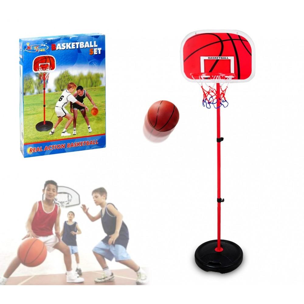 400067 Playset basket 160 cm per bambini canestro regolabile in altezza e palla