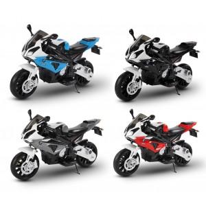 LT 832 Moto elettrica per bambini BMW sedile in pelle accensione con chiave