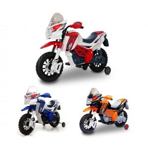 LT 812 Motocicletta elettrica per bambini MOTO CROSS 6/12V doppio motore