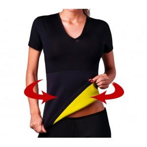 T-shirt sauna fitness effetto snellente braccia e addome unisex