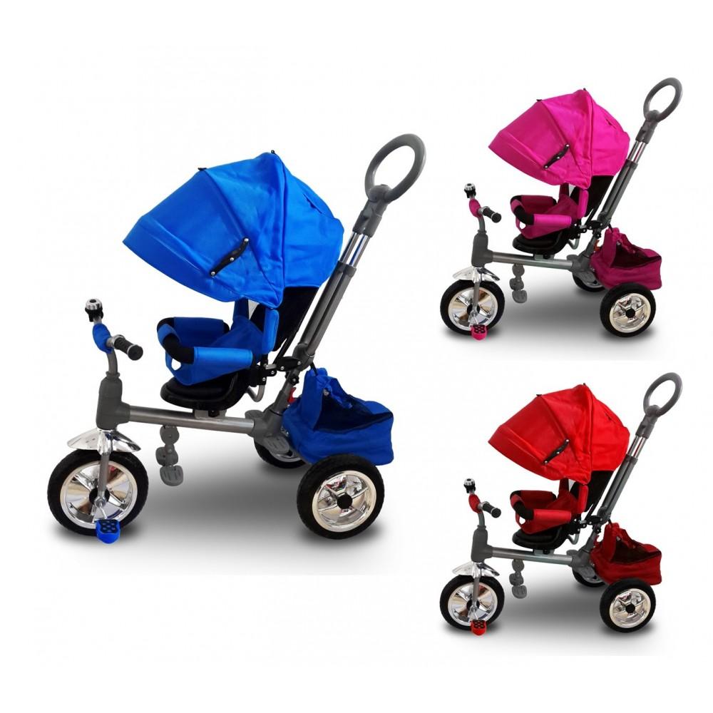 Triciclo a spinta LUXURY con pedali LT857 per bambini sedile girevole
