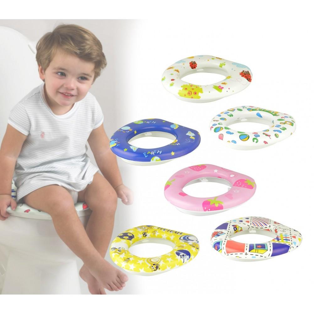 115868 Riduttore wc per bambini  BABY WC SOFT imbottito e lavabile 30 x 30 cm