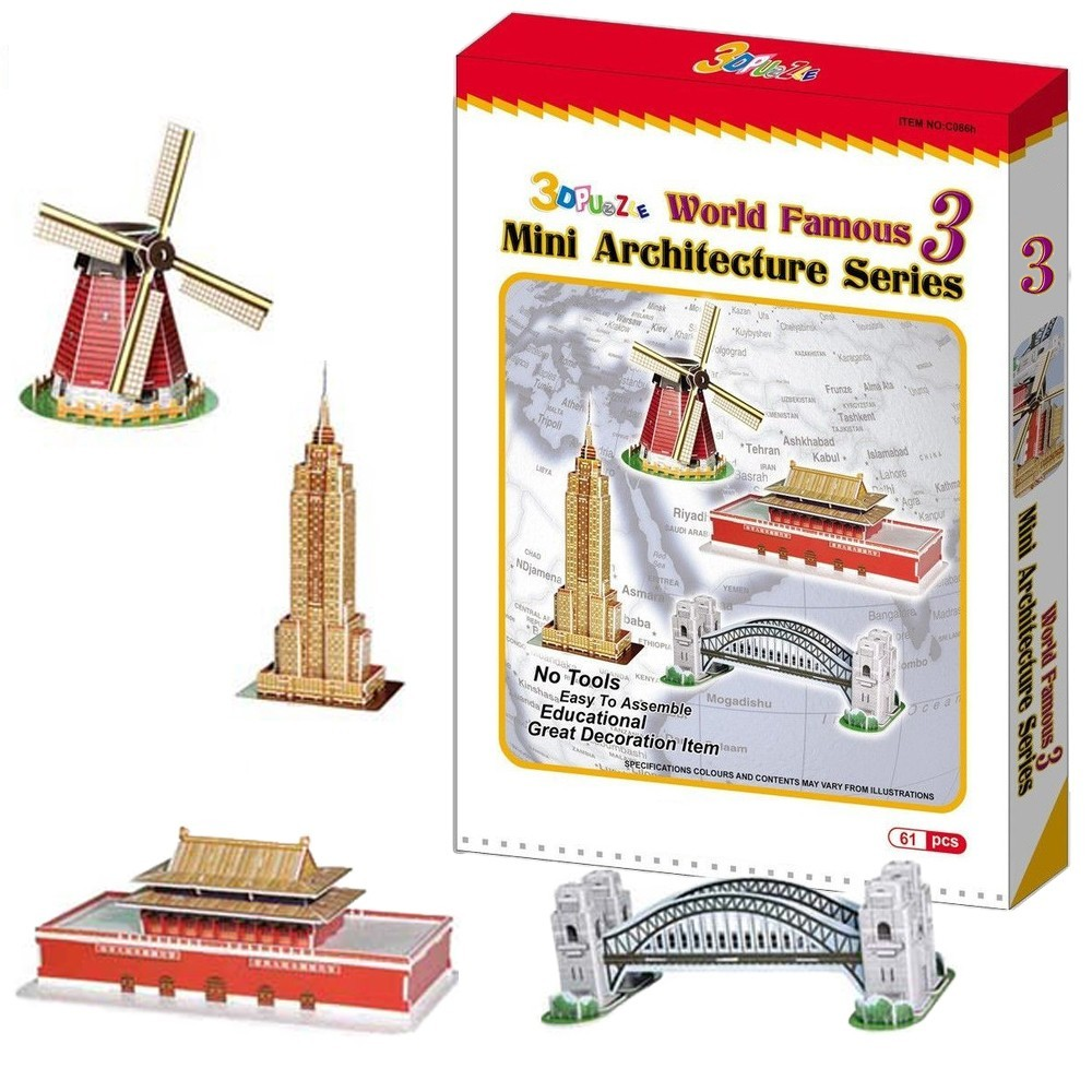 Puzzle 3D i monumenti del mondo mini architetture giocattolo diversi modelli