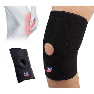 Fascia elastica tutore ginocchio chiusura a velcro regolabile sport ginocchiera