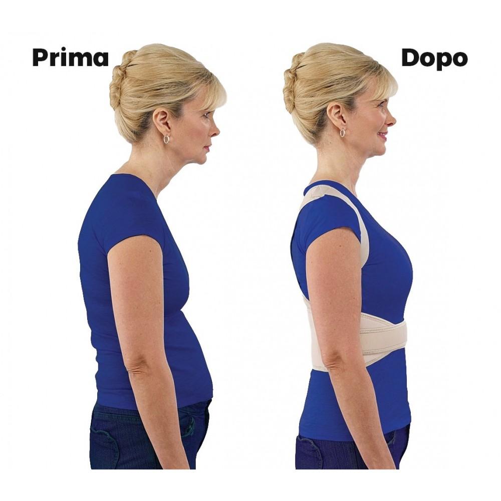 Supporto fascia posturale lombare BEST POSTURE schiena spalle unisex regolabile