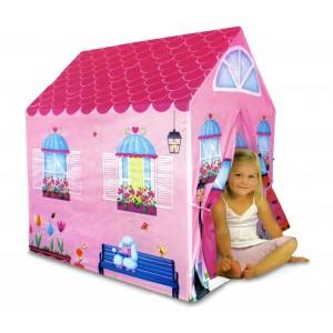 Image of 167117 Casetta tenda gioco per bambine 102x72x95 cm facile da montare 7106899873299