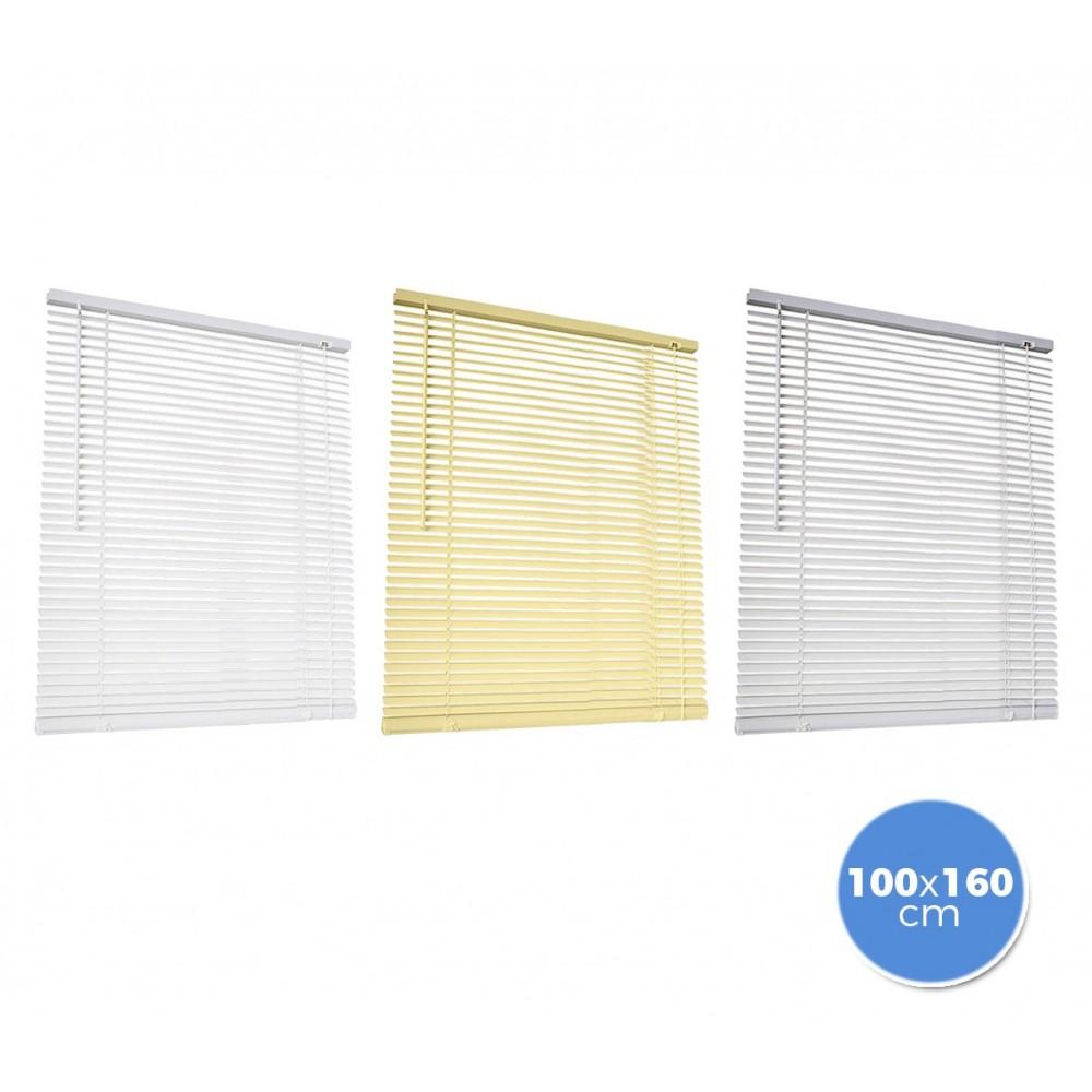 007767 Tenda da sole veneziana 100 x 160 cm per interno in pvc