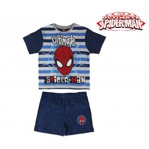 SS17SP Pigiama da bambino estivo Spiderman in cotone taglie dai 3 ai 7 anni
