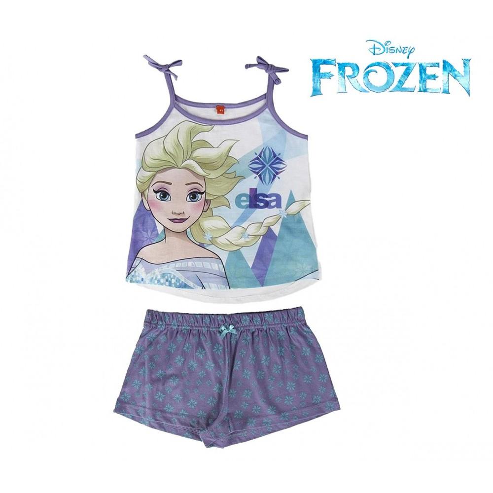 10d1318404 Pigiama Frozen Elsa 22-1976 da bambina estivo in cotone taglie dai 3 ai 7