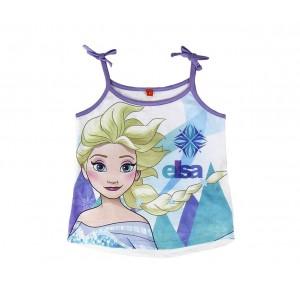 SS17FZ Pigiama da bambina estivo Frozen Elsa in cotone taglie dai 3 ai 7 anni