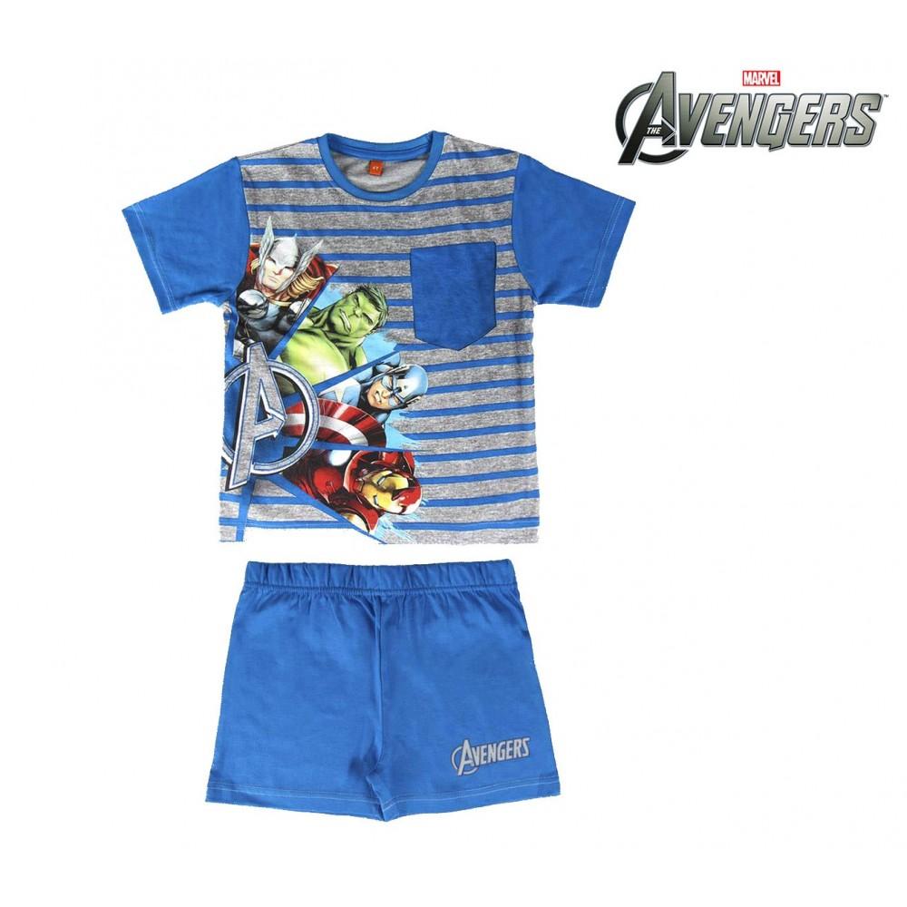 SS17AV Pigiama da bambino estivo The Avengers in cotone taglie 4 - 6 - 8 anni