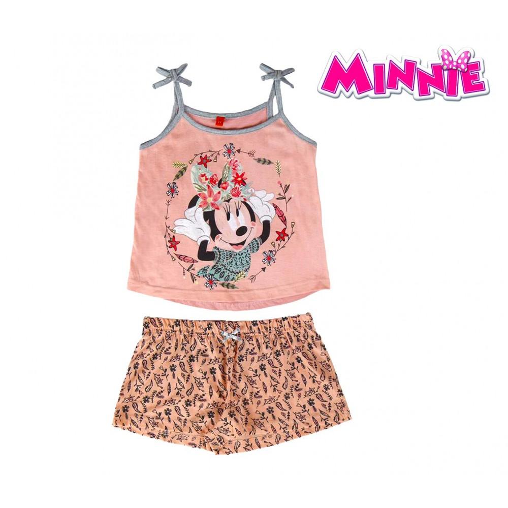 SS17MN Pigiama da bambina estivo Minnie Mouse in cotone taglie dai 3 ai 7 anni