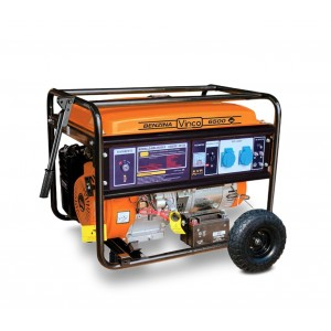 60126 Generatore di corrente VINCO 4 tempi a benzina alternatore in rame 390cc