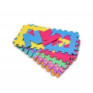 1417 Tappeto morbido da gioco componibile LETTERE 10 pz 29.5x29.5x8 cm colorato