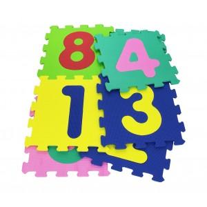 232026 Tappeto morbido da gioco componibile NUMERI 29.5x29.5x8cm colorato