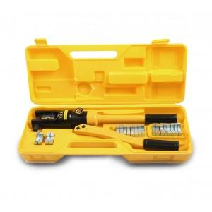 Image of Pinza idraulica pressatrice per terminali elettrici con 12 inserti esagonali 7106897339858